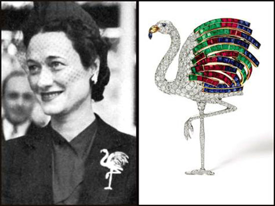 Jeweled Flamingo Pin belonging to the Duchess of Windsor