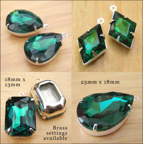 some of the emerald jewels at weekendjewelry1 jewelry supplies shop at Etsy