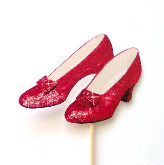 Ruby Slippers Cupcake Toppers