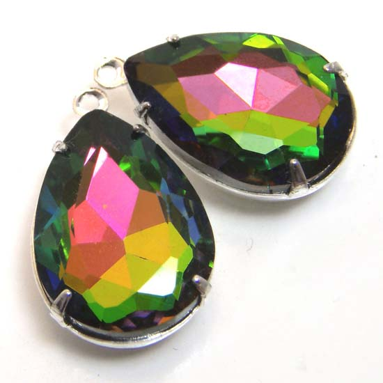 another view of vitrail or volcano pear jewels in my etsy jewelry supplies shop