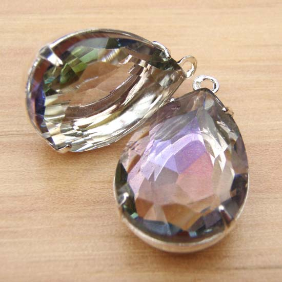 vitrail or volcano pear jewels in my etsy jewelry supplies shop